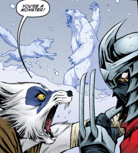 Our girl Alopex finally snaps on Shredder in TMNT #28