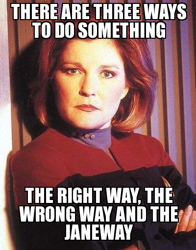 In Defense of Captain Kathryn Janeway of the Starship Voyager