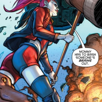 Adrian's nomination for Epic Panel of week from Harley Quinn #1.
