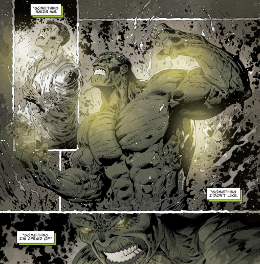 Piotr Kowalski's awesome transformation in Marvel Knights: Hulk #1