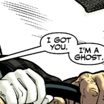 Taylors's nomination for funniest panel of the week from Ghost #1.