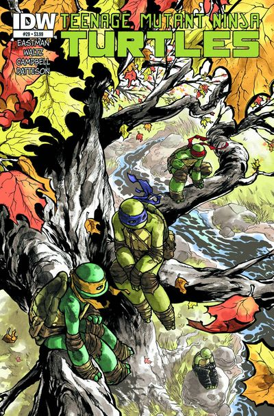 TMNT #29 by Ross Campbell gets our cover art of the week for its beautiful use of color