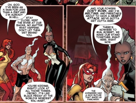 Bobby breaks the ice in Amazing X-Men #2