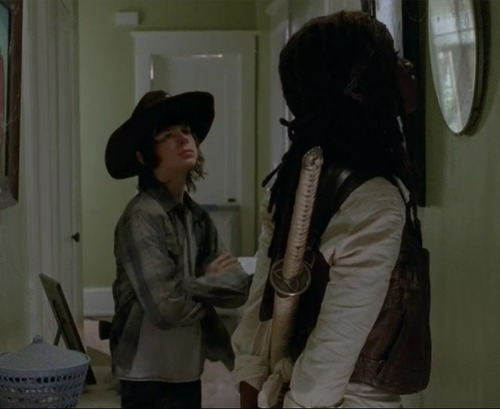 Carl and Michonne