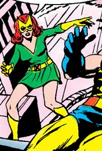 Jean Grey as Marvel Girl in the 1960's