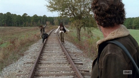 michonne rick and carl TWD Us