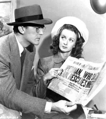 Actress Noel Neill as Lois Lane in Superman. 1948.