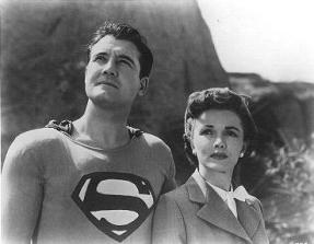 Phyllis Coates as Lois Lane in The Adventures of Superman. 1952.