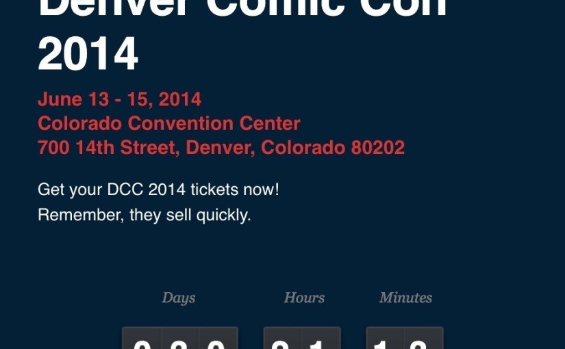 Countdown to Denver Comic Con