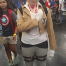 Annie Leonhardt from Attack on Titan at ComicPalooza 2014