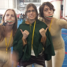 Attack on Titan, titans with Hanji Zoe at ComicPalooza 2014