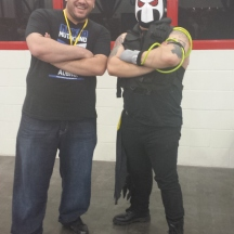 Sherif with Bane at ComicPalooza 2014
