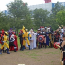 Massive Cosplay in the park at ComicPalooza 2014