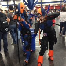Deathstroke and Ravager at ComicPalooza 2014