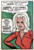Gwen Stacy first appearance in 1965 in the Amazing Spider-Man Comics