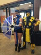 Katana and Scorpion... awesome Cosplay!
