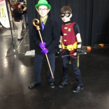 Kiddler and Robin at ComicPalooza 2014