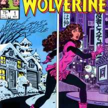 "Kitty on the cover of ""Kitty Pryde and Wolverine"" #1"