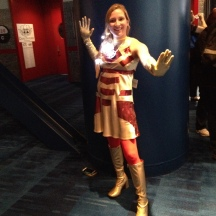Lady Iron Man in the future at ComicPalooza 2014