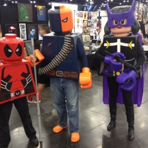 LEGO mercs. Deadpool, Deathstroke and Huntress