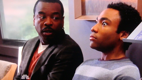 Troy Barnes (Donald Glover) meets LeVar Burton on Community.