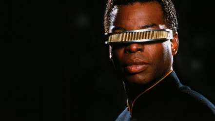 LeVar Burton as Geordi La Forge in Star Trek: The Next Generation.  And the best reason for him to appear at Denver Comic Con.
