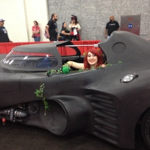 Poison Ivy has taken over the BatMobile at ComicPalooza 2014