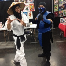 Raiden and Sub-Zero at ComicPalooza 2014