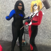 Harley Quinn and Female Nightwing at ComicPalooza 2014