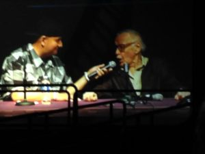 Stan Lee at his panel at Comicpalooza 2014.