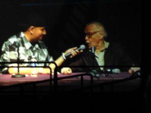 Stan Lee at his panel at Comicpalooza 2014.