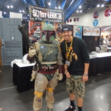 Taylor and Boba Fett at ComicPalooza 2014