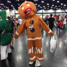 Not my Gumdrop Button! The Gingerbread Man at ComicPalooza 2014