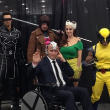 The X-Men including Cyclops, Gambit, Rogue, Wolverine and Professor X at ComicPalooza 2014