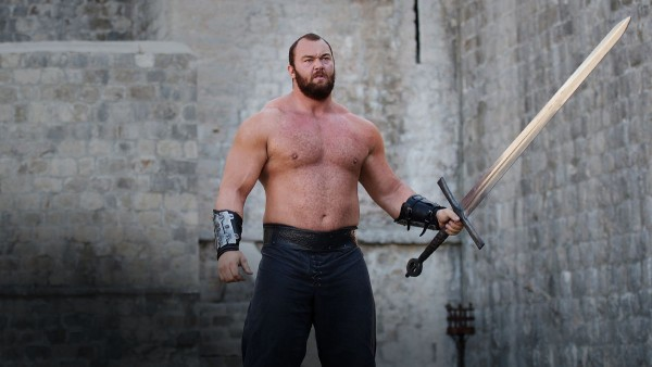 "The Mountain, played by Hafthor Bjornsson, is a 6'9"" and 420 lb strongman competitor"