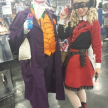 Western Joker and Harley Quinn...only in Texas at ComicPalooza 2014