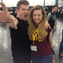 James Marsters with Adrian, co-owner of Hush Comics, at Comicpalooza 2014