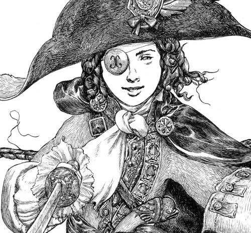 Taken from Jeremy Bastian's Blogspot. Buy Cursed Pirate Girl here.