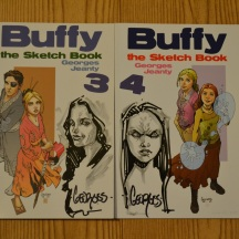 Georges Jeanty Faith and Vampire Buffy sketches