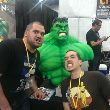 Taylor and I Hulkin out