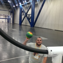 Sherif playing Quidditch at Comicpalooza 2014