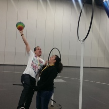 Taylor is a beast at Quidditch at Comicpalooza 2014