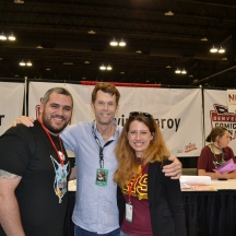 Sherif and Adrian with The Batman, Kevin Conroy