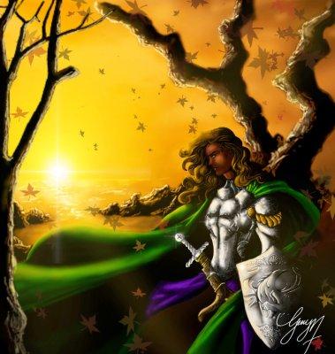 Knightfall by Gerry Mulowayi.