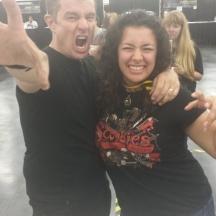 James Marsters and Sara at Comicpalooza 2014