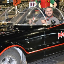 Sherif with the Adam West Batmobile