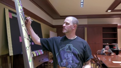 Weisman busy on the set of Star Wars Rebels, but still reppin' Gargoyles!