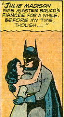 Batman and Julie Madison in Detective Comics during the 1940's.