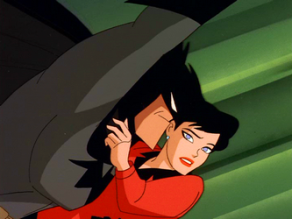 Batman and Lois Lane in Superman: The Animated Series.