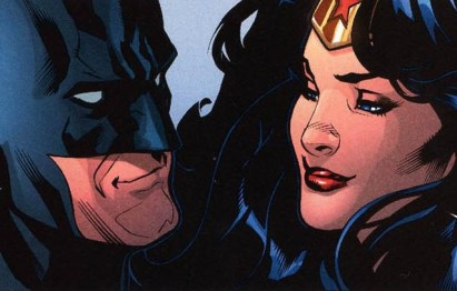 Batman and Wonder Woman in the comics.